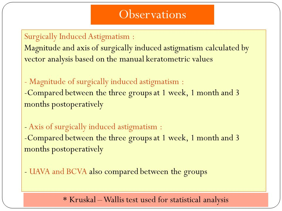 * Kruskal – Wallis test used for statistical analysis