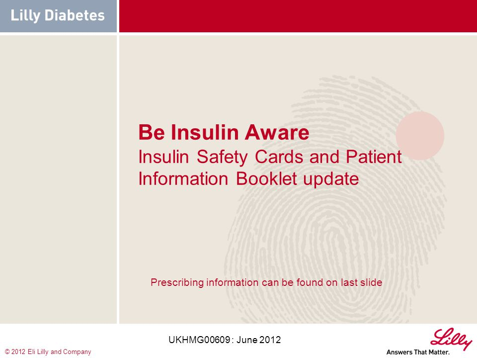 Be Insulin Aware Insulin Safety Cards and Patient Information Booklet update