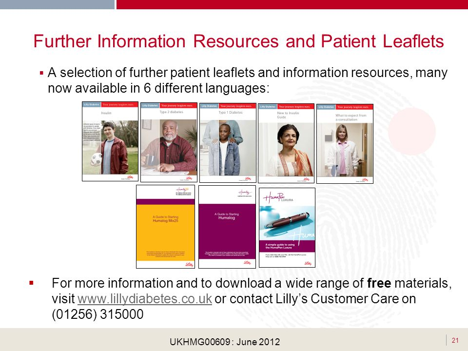 Further Information Resources and Patient Leaflets