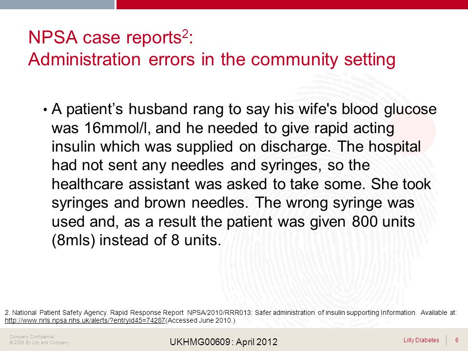 NPSA case reports2: Administration errors in the community setting