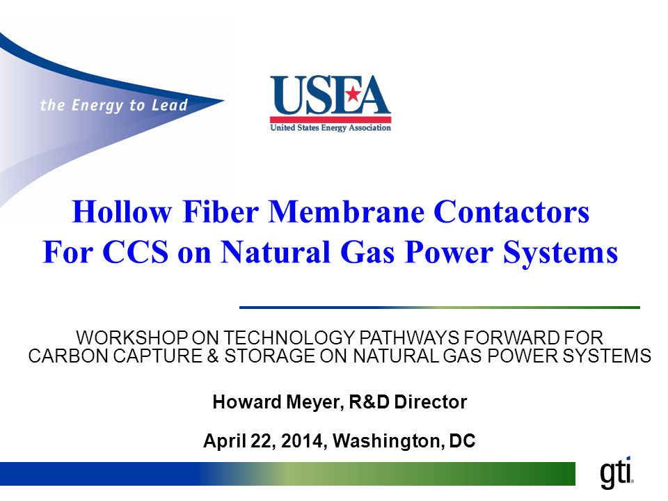 Hollow Fiber Membrane Contactors For CCS on Natural Gas Power Systems