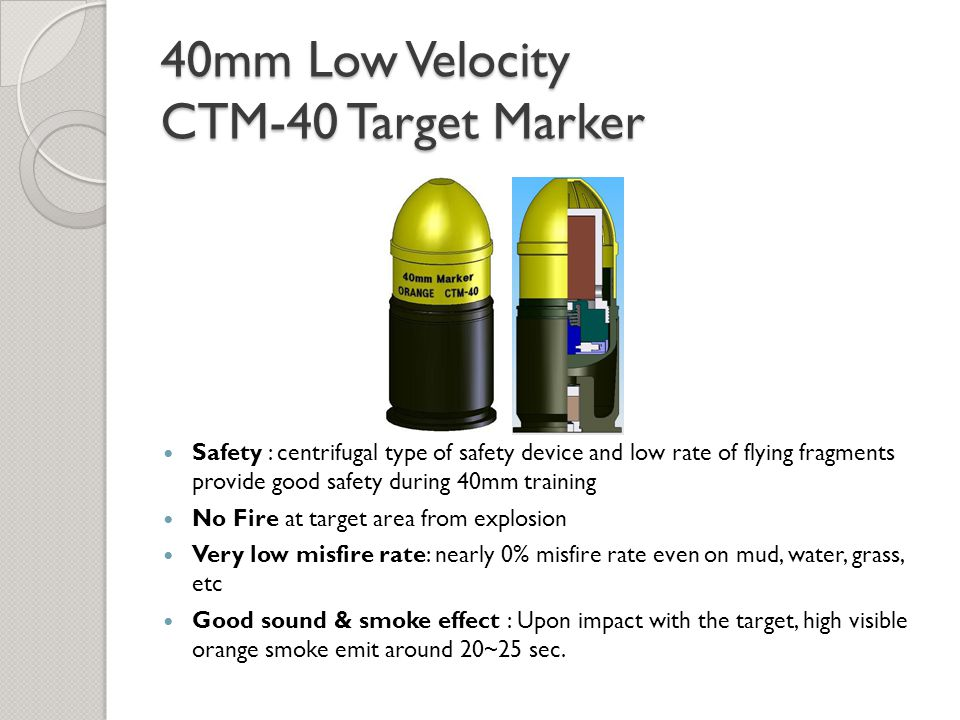 40mm Low Velocity CTM-40 Target Marker