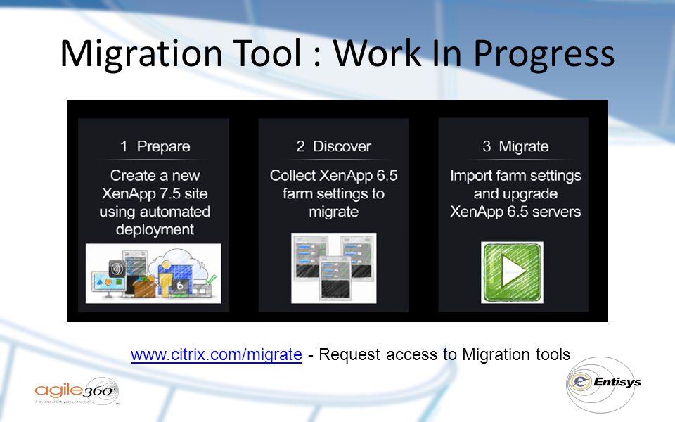 Migration Tool : Work In Progress