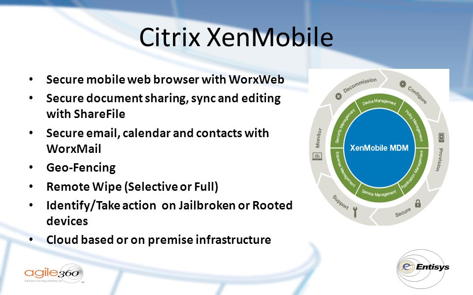 Citrix XenMobile Secure mobile web browser with WorxWeb