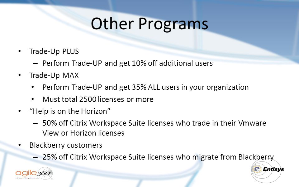 Other Programs Trade-Up PLUS
