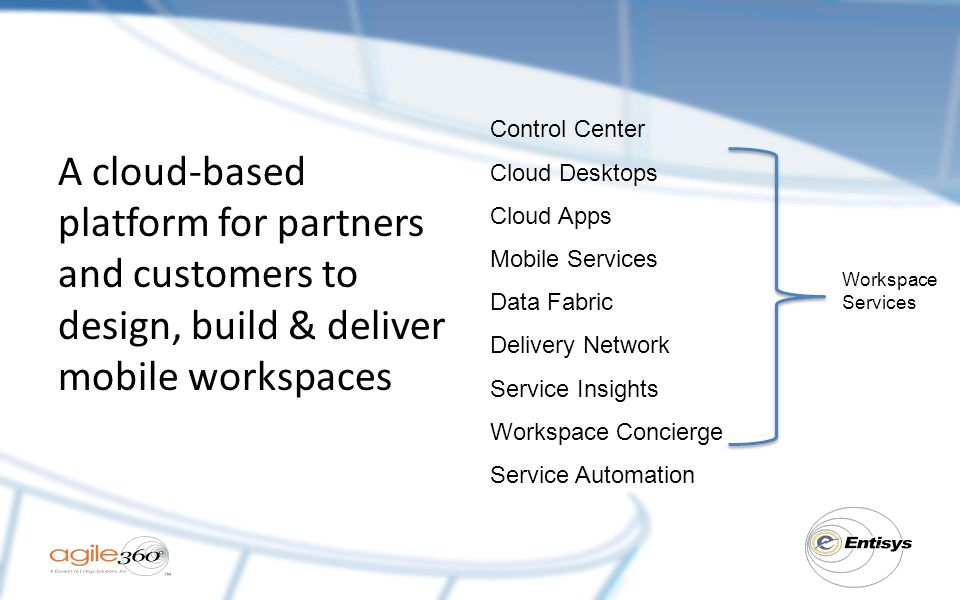 Control Center Cloud Desktops. Cloud Apps. Mobile Services. Data Fabric. Delivery Network. Service Insights.