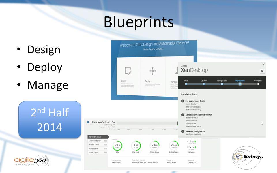 Blueprints Design Deploy Manage 2nd Half 2014