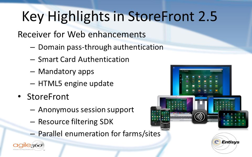 Key Highlights in StoreFront 2.5