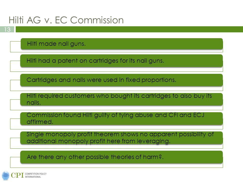 Hilti AG v. EC Commission