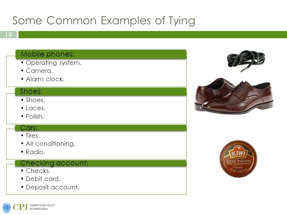 Some Common Examples of Tying