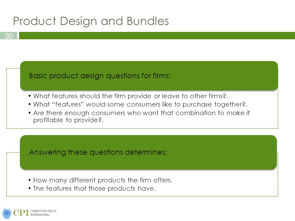 Product Design and Bundles