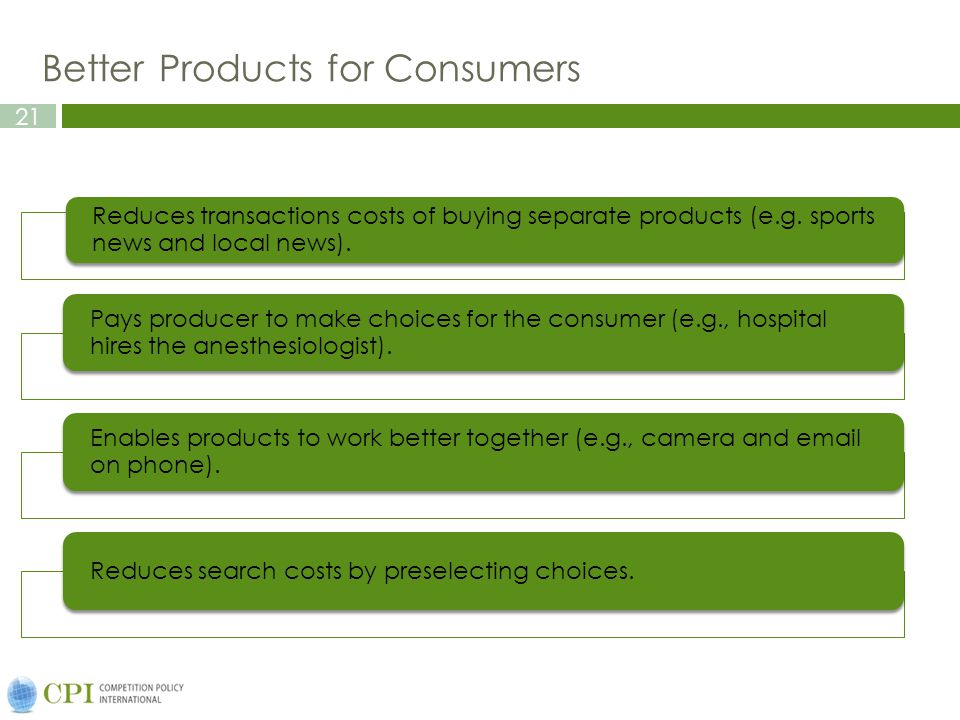 Better Products for Consumers
