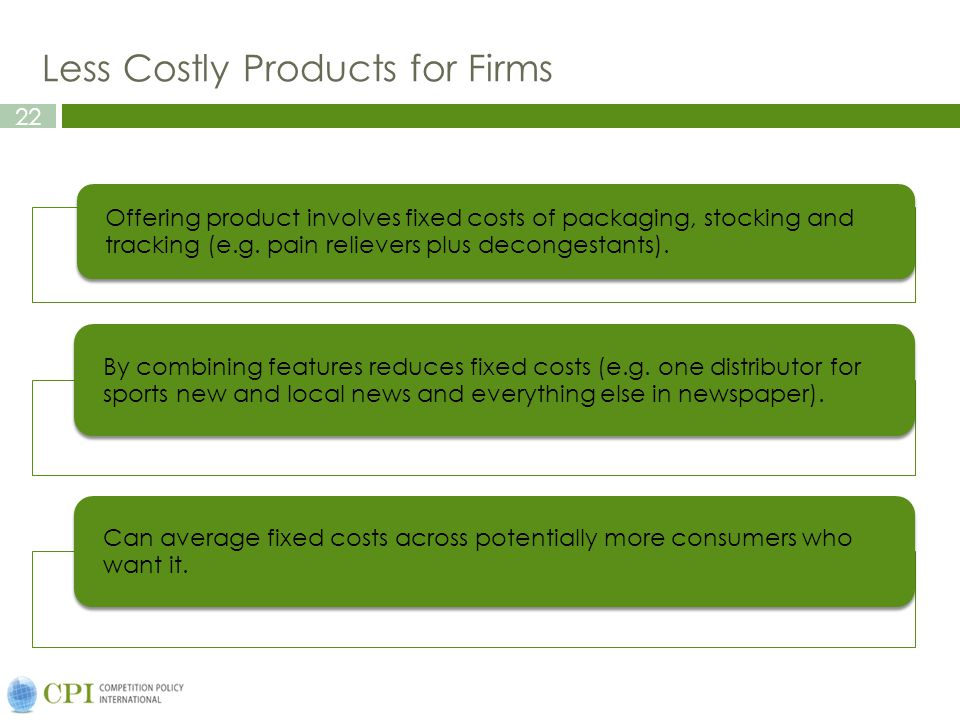 Less Costly Products for Firms