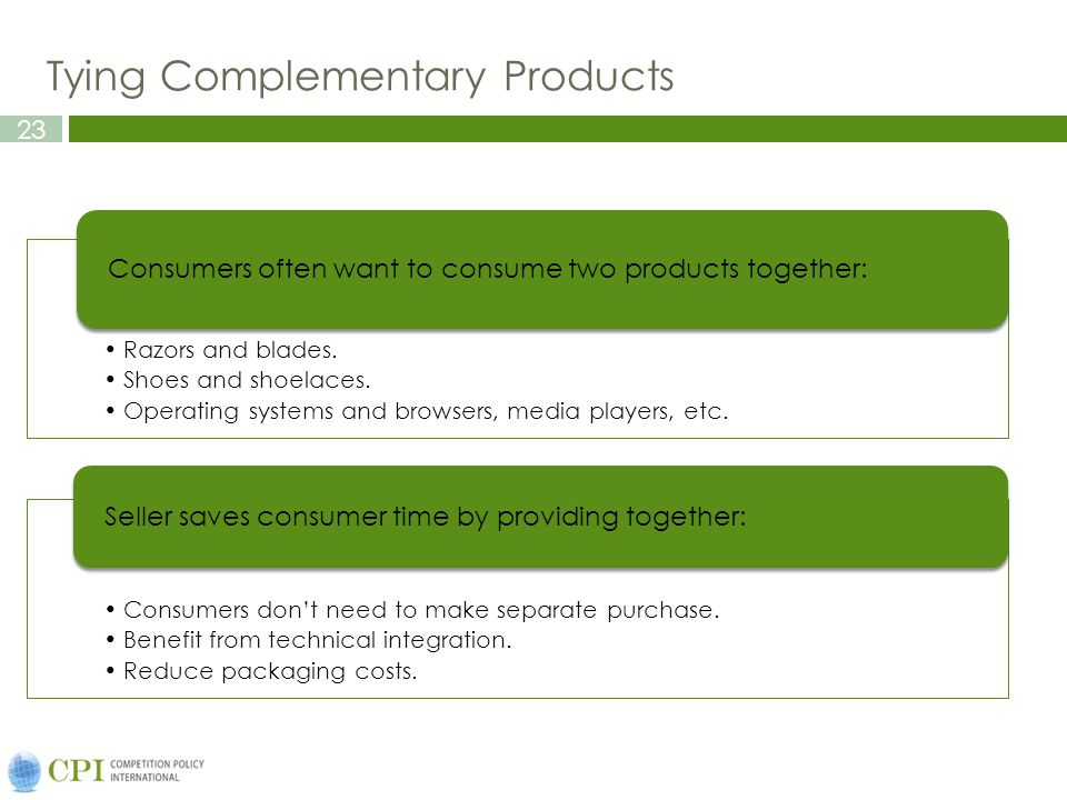 Tying Complementary Products