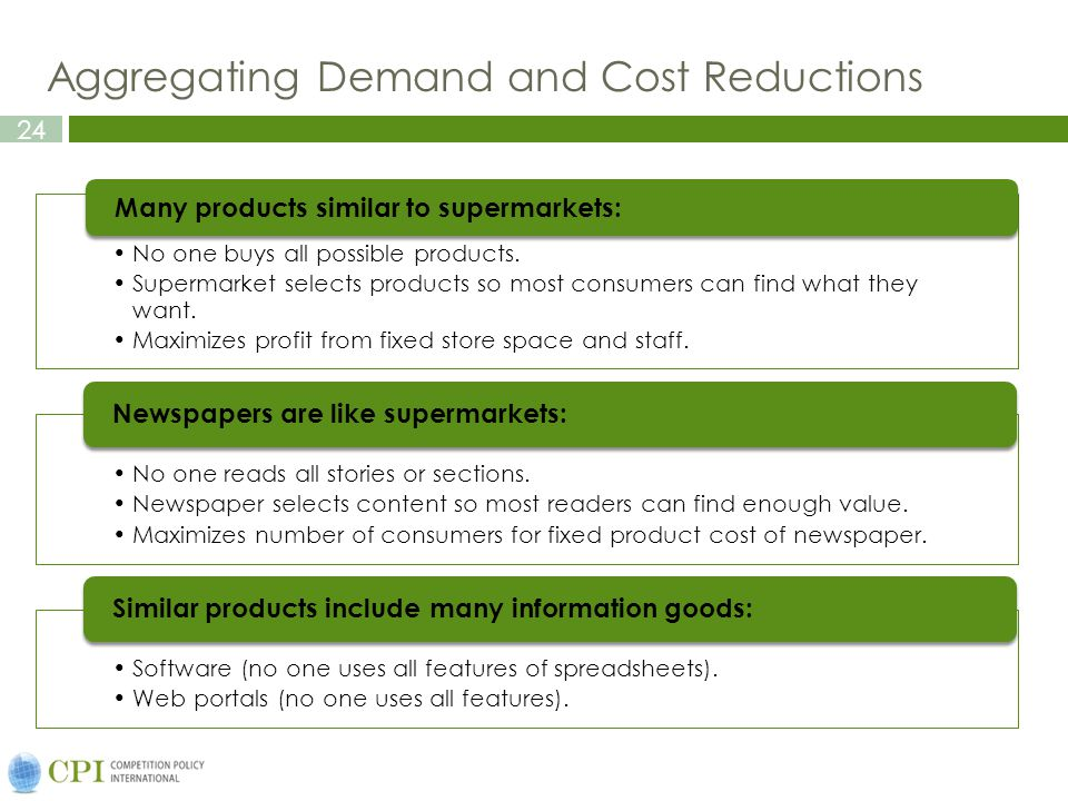 Aggregating Demand and Cost Reductions