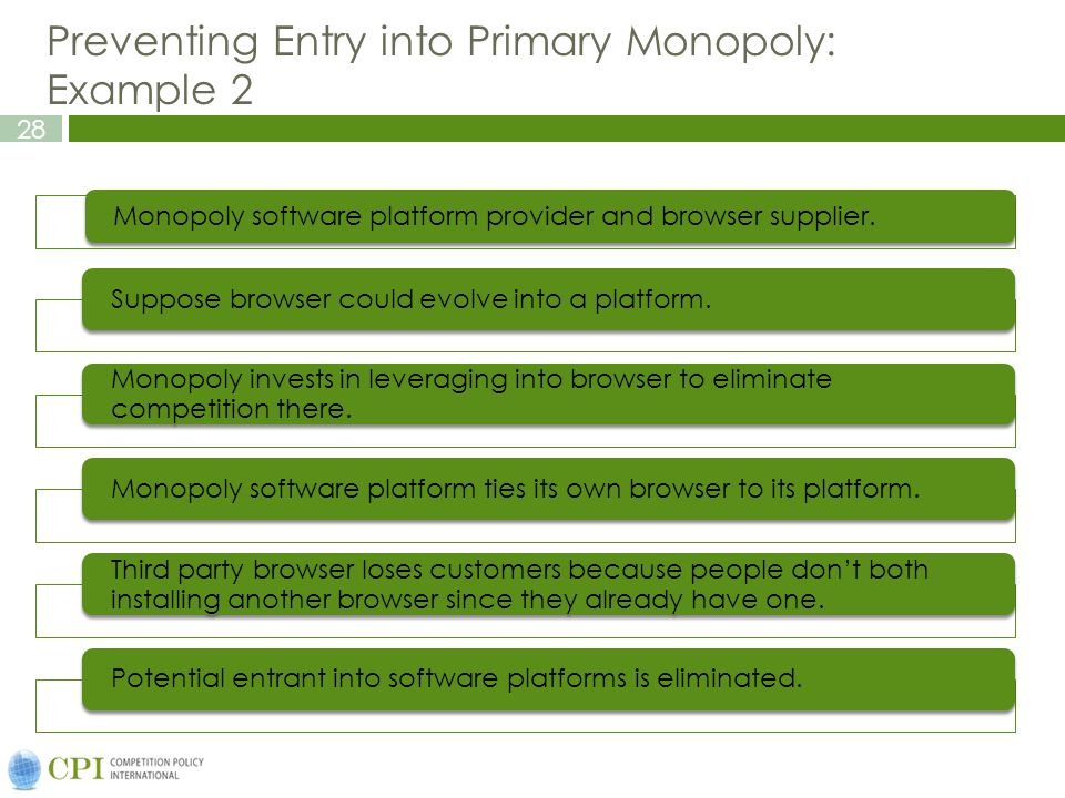 Preventing Entry into Primary Monopoly: Example 2