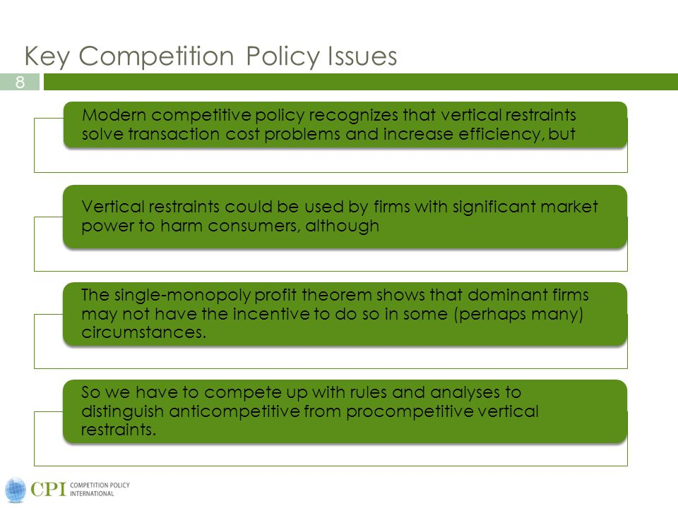 Key Competition Policy Issues