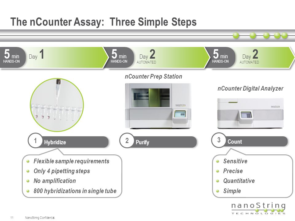 The nCounter Assay: Three Simple Steps