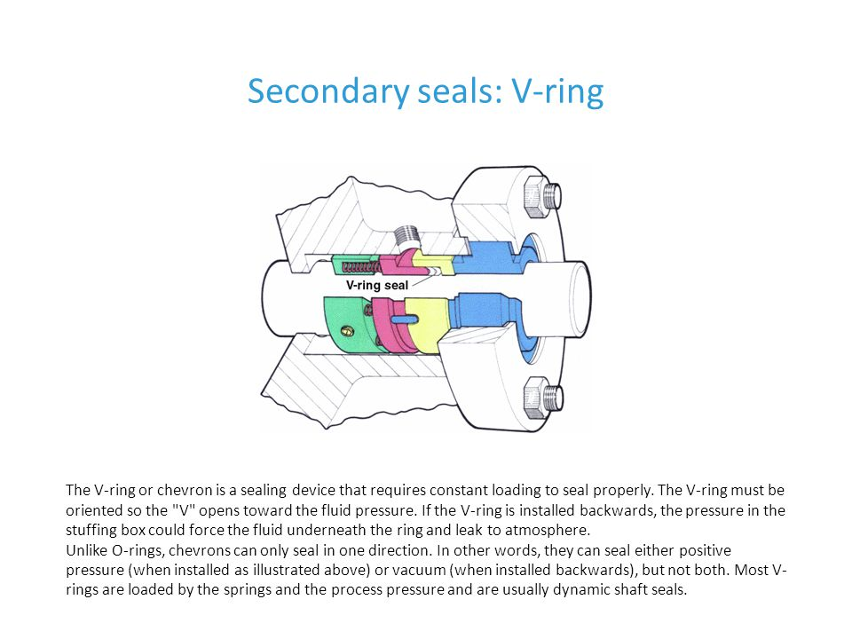 Secondary seals: V-ring