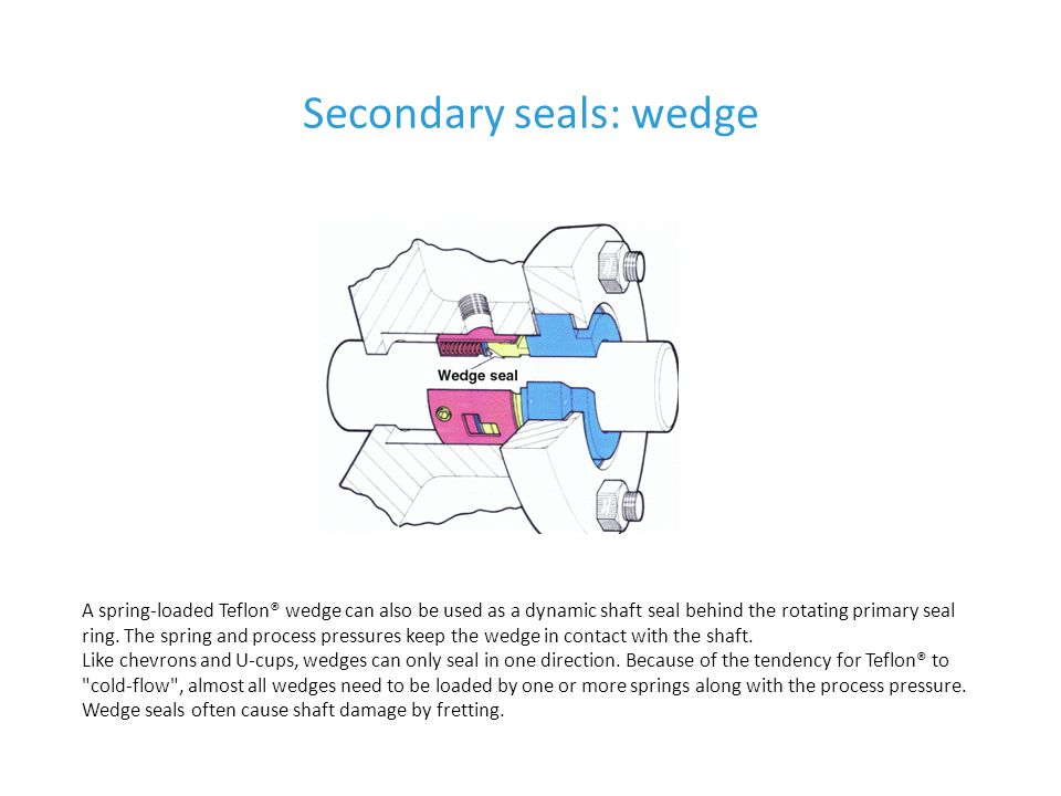 Secondary seals: wedge