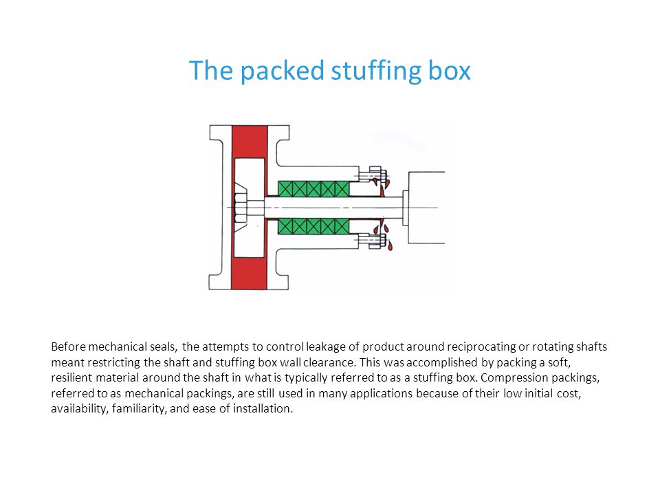 The packed stuffing box