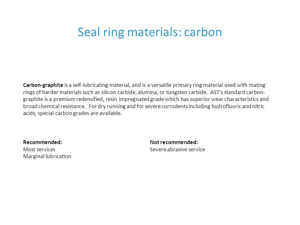 Seal ring materials: carbon