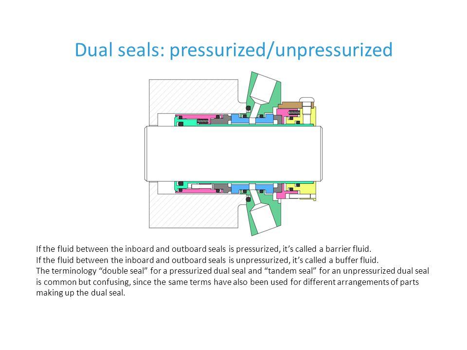Dual seals: pressurized/unpressurized
