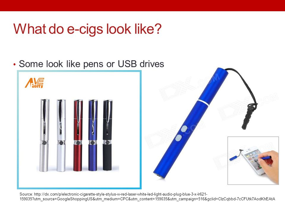 What do e-cigs look like