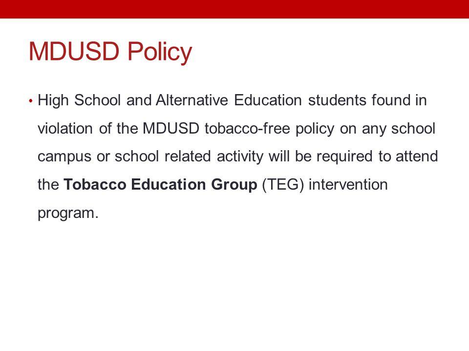 MDUSD Policy