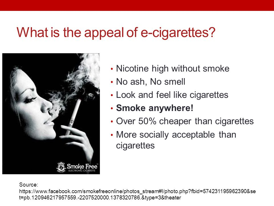 What is the appeal of e-cigarettes