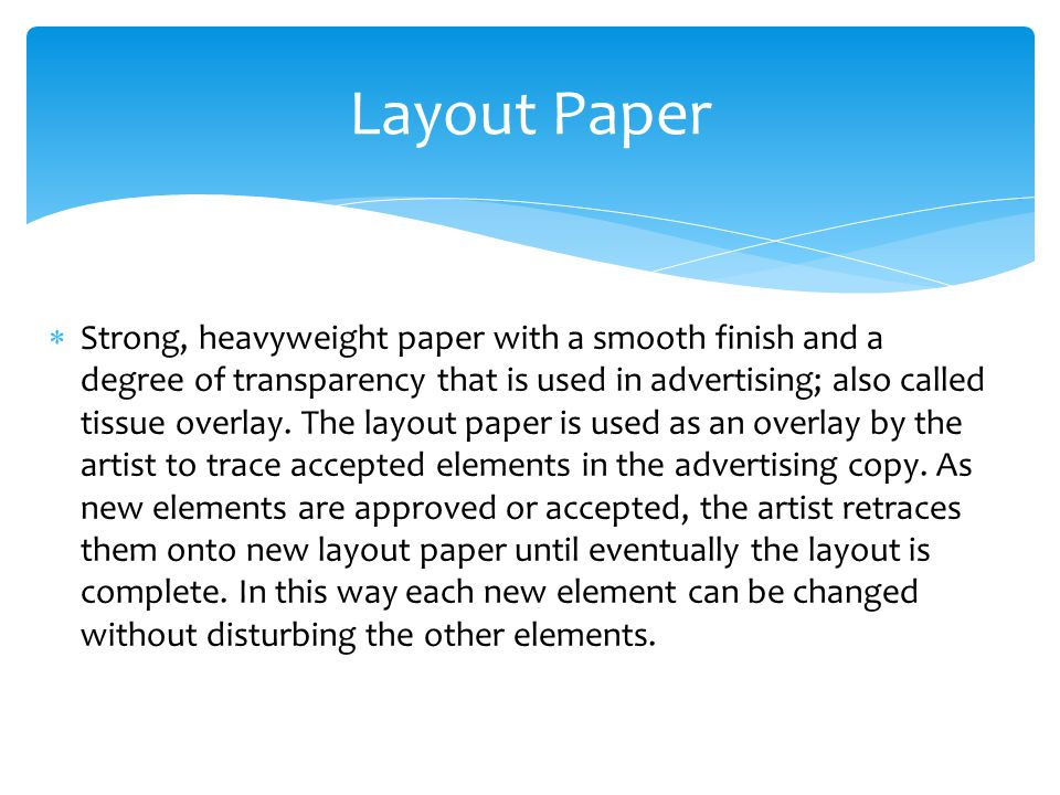 Layout Paper