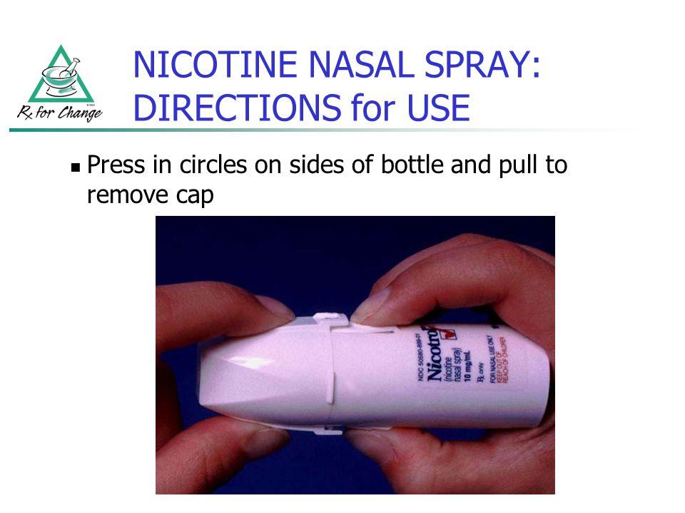 NICOTINE NASAL SPRAY: DIRECTIONS for USE