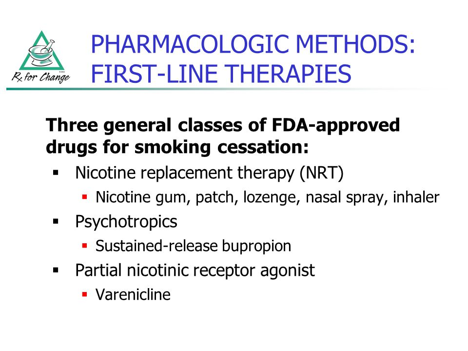 PHARMACOLOGIC METHODS: FIRST-LINE THERAPIES