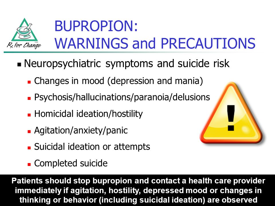 BUPROPION: WARNINGS and PRECAUTIONS