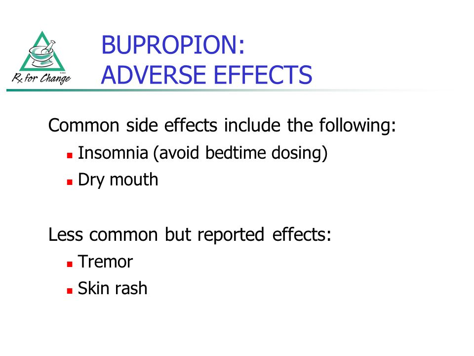 BUPROPION: ADVERSE EFFECTS
