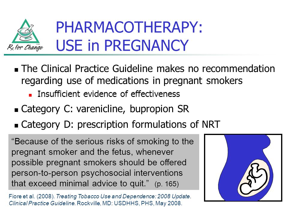 PHARMACOTHERAPY: USE in PREGNANCY