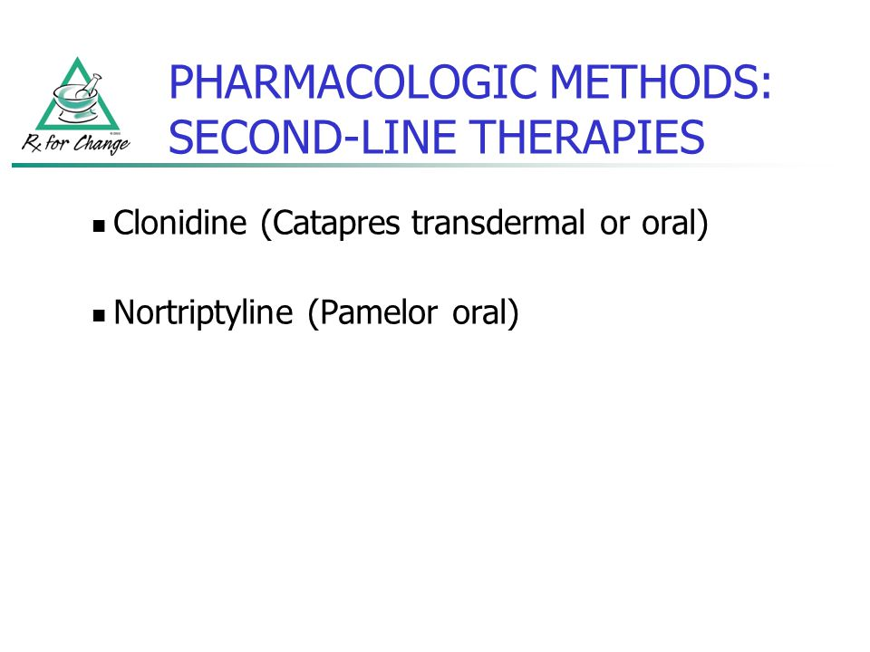 PHARMACOLOGIC METHODS: SECOND-LINE THERAPIES