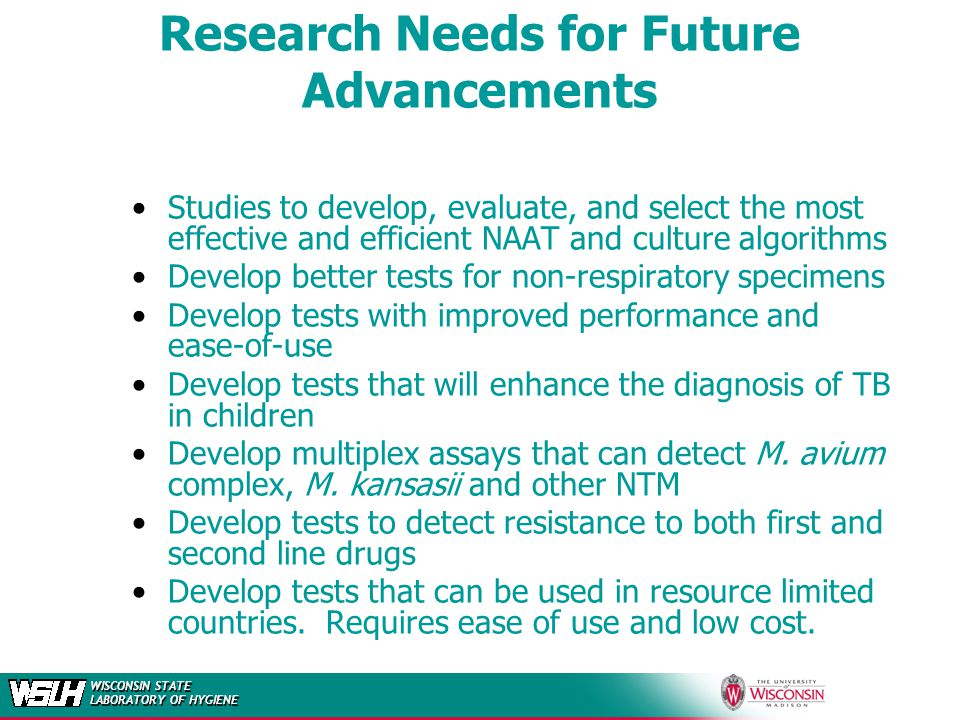 Research Needs for Future Advancements