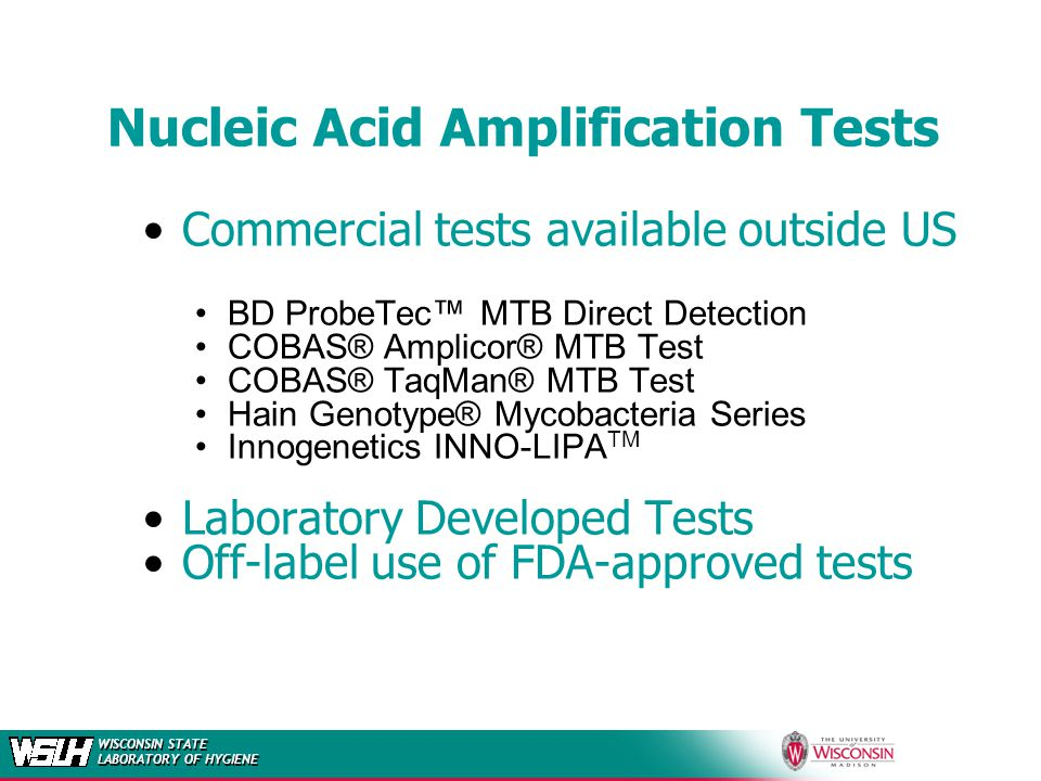 Nucleic Acid Amplification Tests