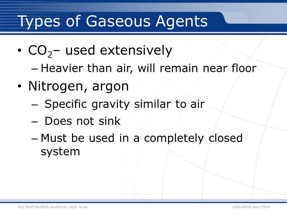 Types of Gaseous Agents
