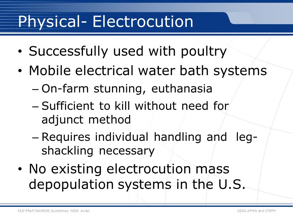 Physical- Electrocution