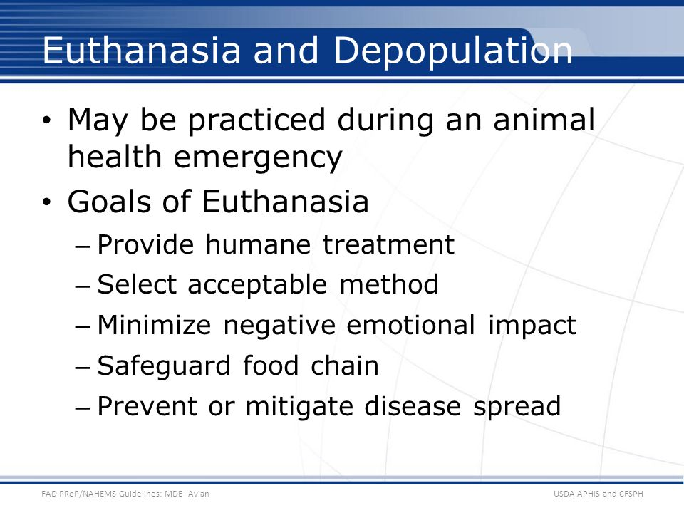 Euthanasia and Depopulation