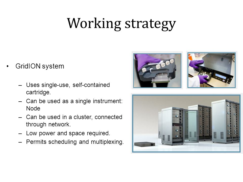 Working strategy GridION system