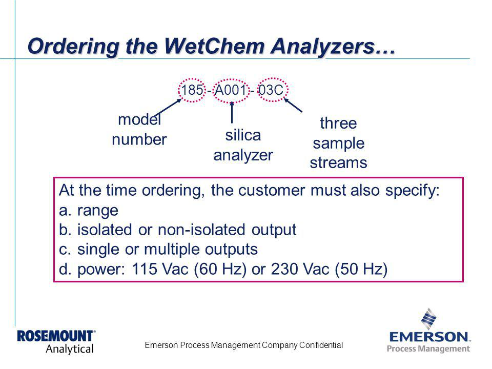 Ordering the WetChem Analyzers…