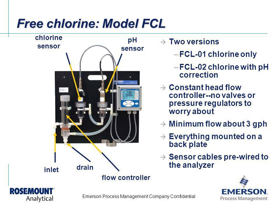 Free chlorine: Model FCL