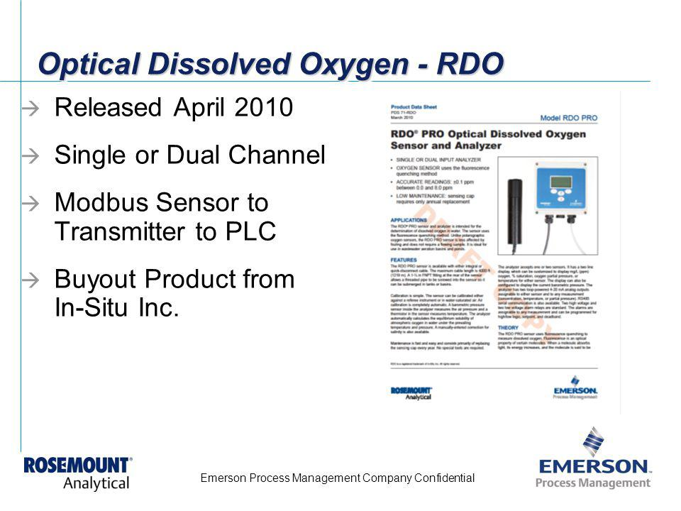 Optical Dissolved Oxygen - RDO