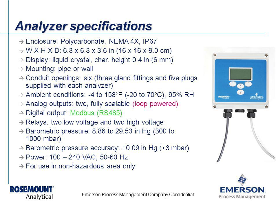 Analyzer specifications