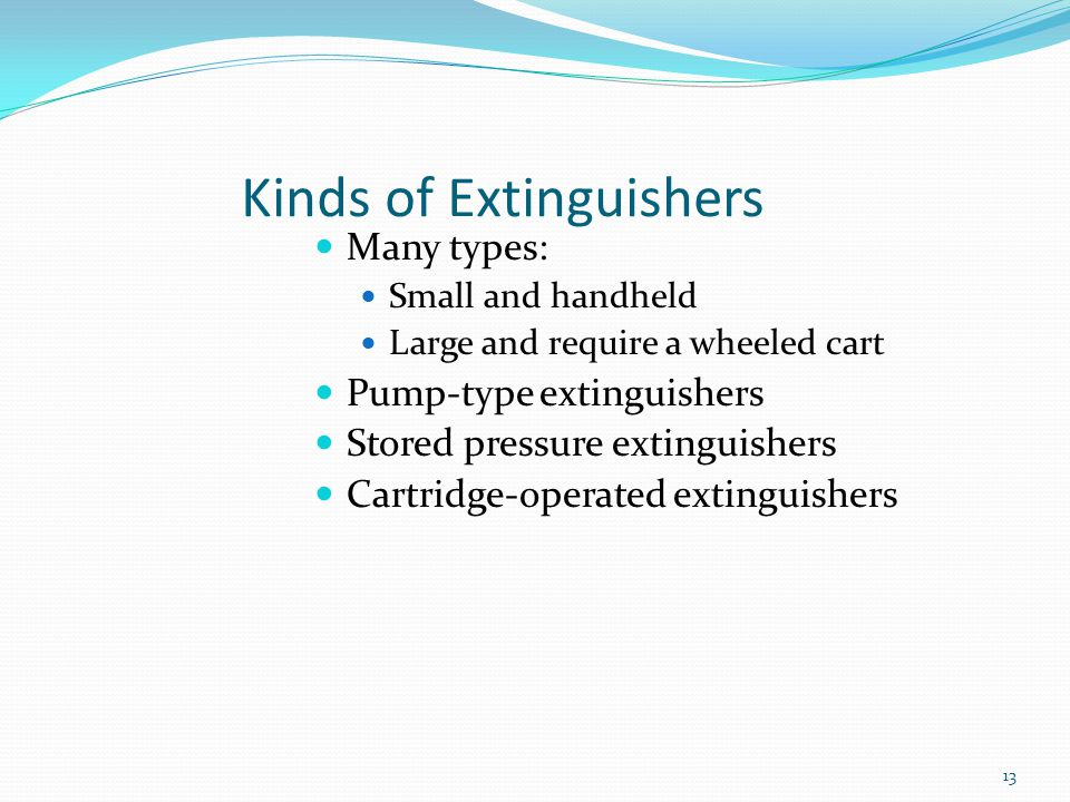 Kinds of Extinguishers