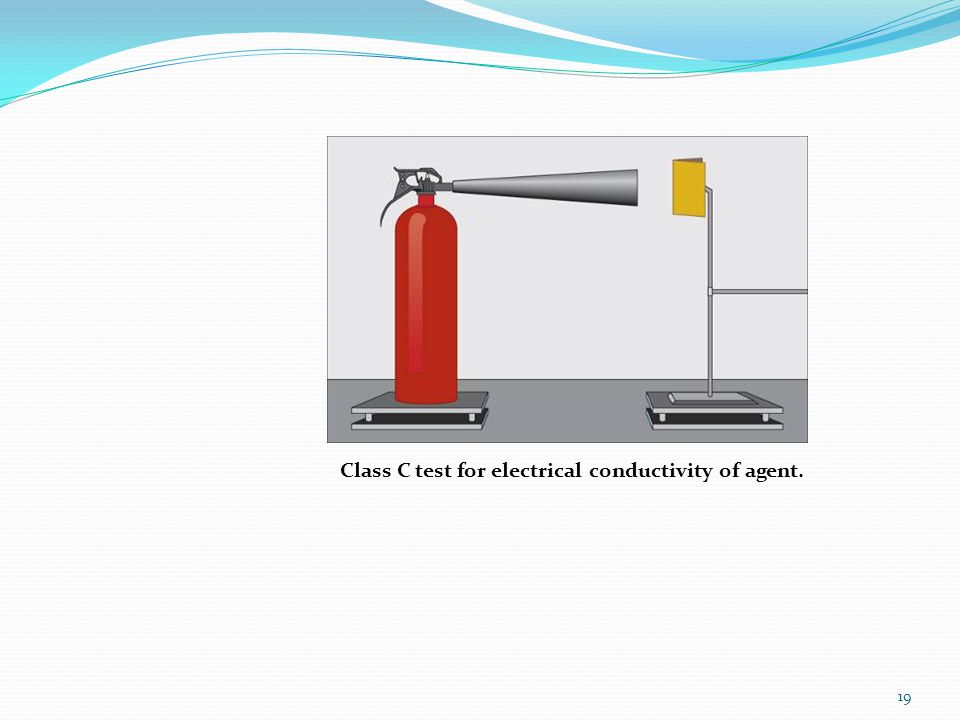 Class C test for electrical conductivity of agent.