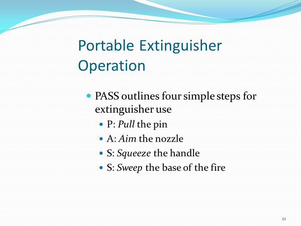 Portable Extinguisher Operation